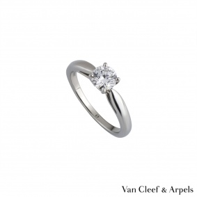 Van Cleef & Arpels Platinum Diamond Ring 0.50ct D/VVS2 XXX